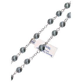Rosario in vetro perla celeste grani 3 mm s3