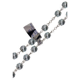 Rosario vidrio como perla celeste granos 5 mm s3