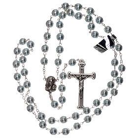 Rosario vidrio como perla celeste granos 5 mm s4