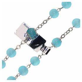 Rosario vidrio lúcido azul granos 4 mm s3