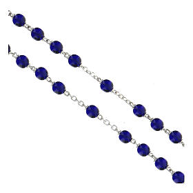 Chapelet grains en verre bleu brillant 7 mm s3
