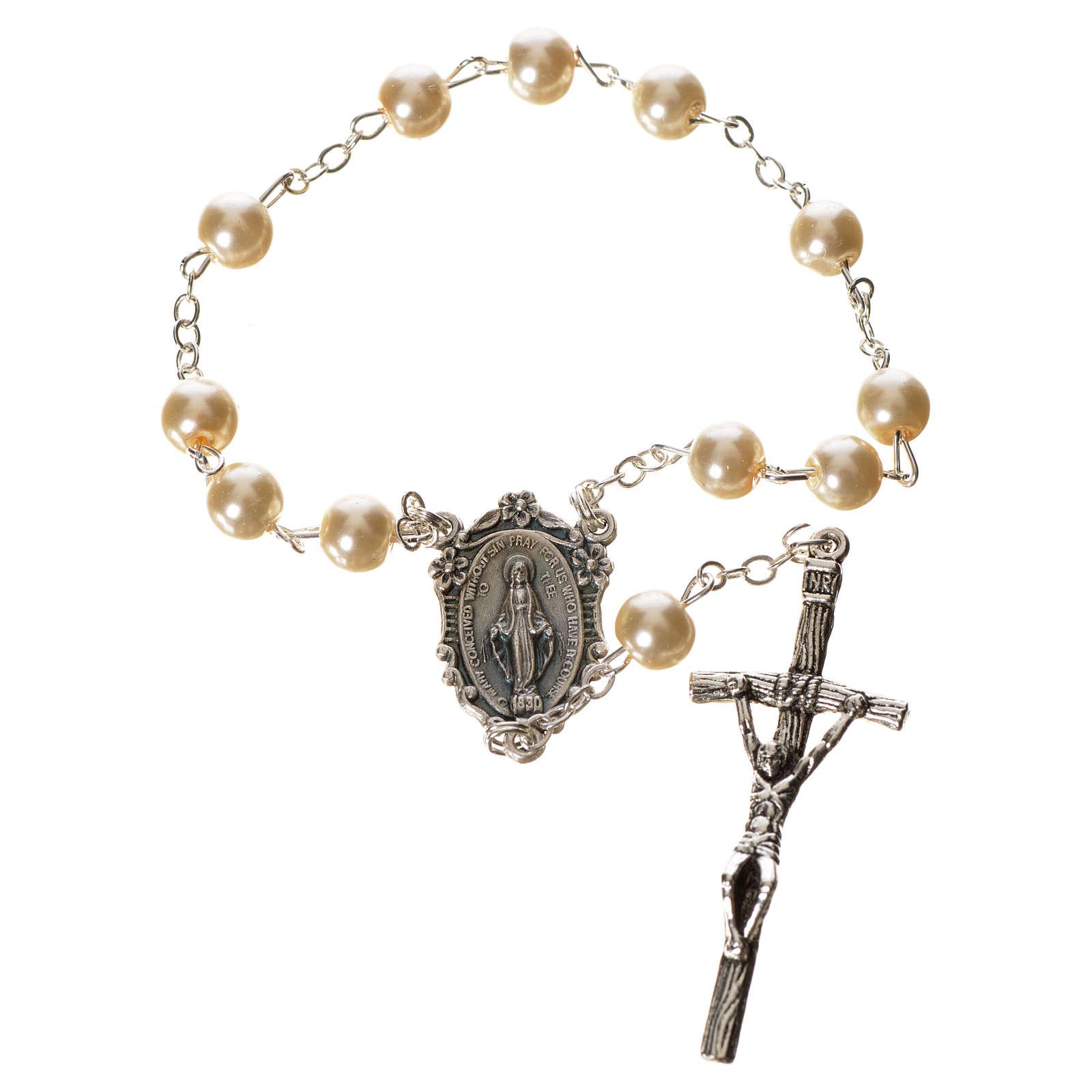 Trisagio Idente imitação pérola imagem Maria 4