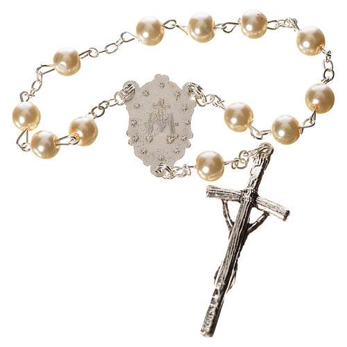 Trisagio Idente imitação pérola imagem Maria 2