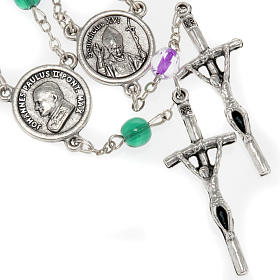 Devotional rosaries: Trisagion in glass with Popes images