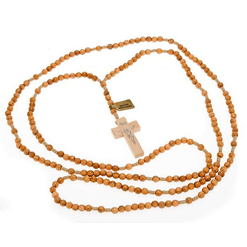 Rosary 20 decades in Olive wood 5 mm 3