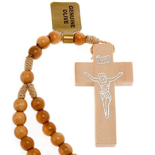Rosary 20 decades in Olive wood 5 mm 1