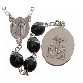 Rosario devocional Virgen de los Dolores negro s2