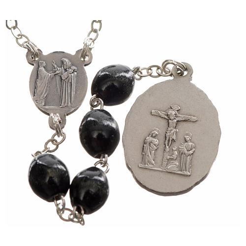 Rosario devocional Virgen de los Dolores negro 2