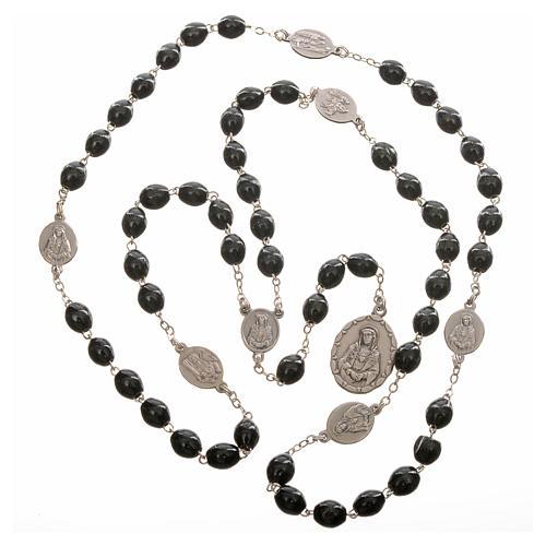 Rosario devocional Virgen de los Dolores negro 4