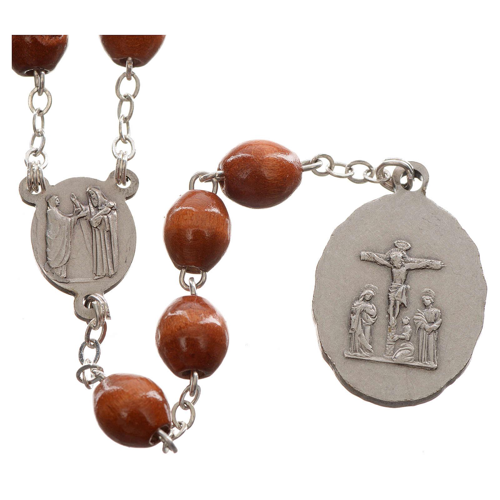 Rosario devocional marrón Virgen de los Dolores 4