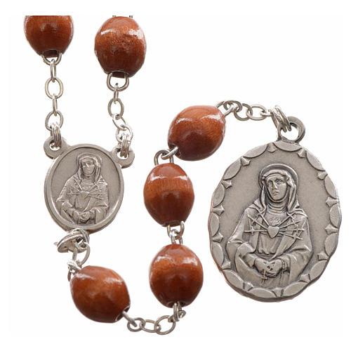 Rosario devocional marrón Virgen de los Dolores 1