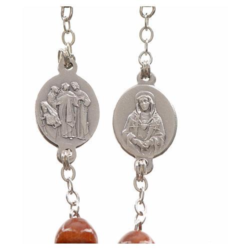 Rosario devocional marrón Virgen de los Dolores 3