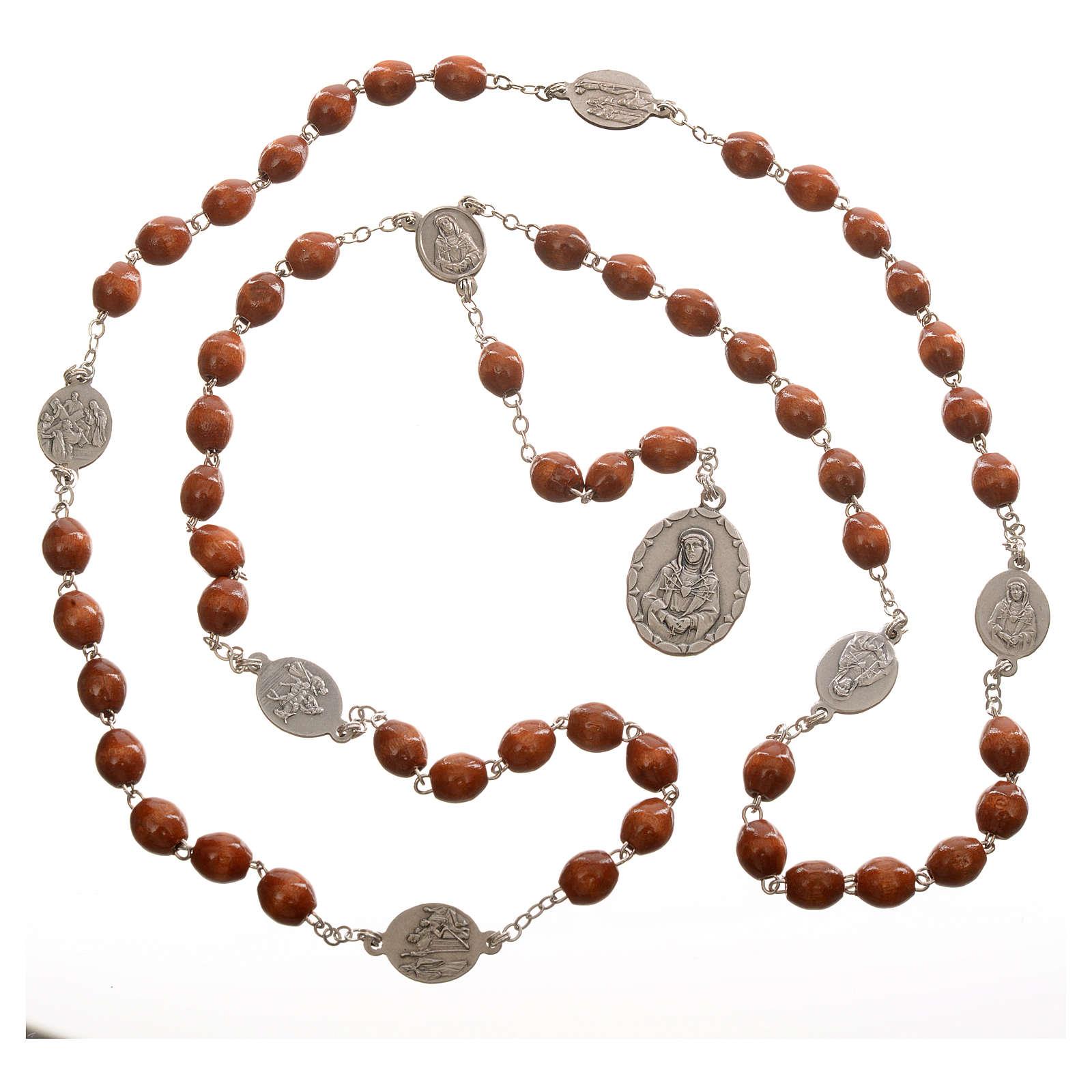 Rosario devozionale Madonna Addolorata naturale 4