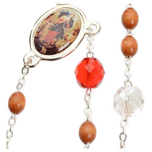 Rosenkranz der Madonna, die die Knoten löst, aus natürlichem Hol 6