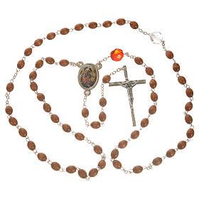 Rosario della Madonna che scioglie i nodi - legno naturale s4