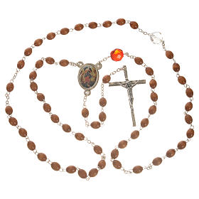 Mary Untier of Knots rosary, natural wood s10