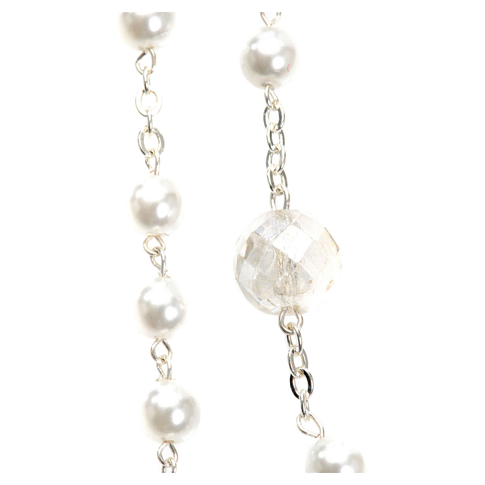 Mary Untier of Knots rosary, white 4