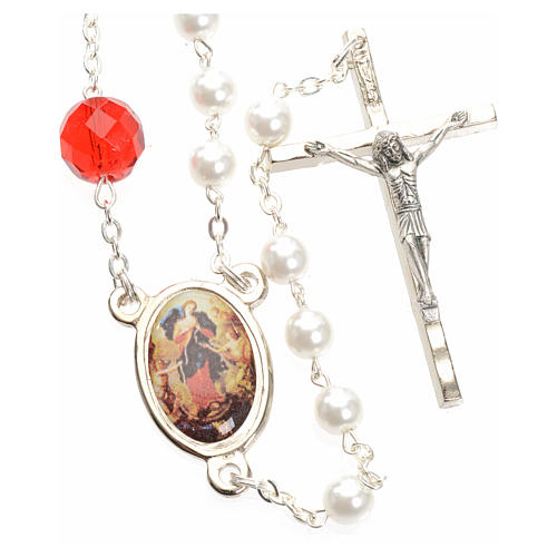 Rosario della Madonna che scioglie i nodi - bianco 1