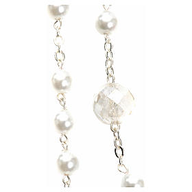 Mary Untier of Knots rosary, white s2