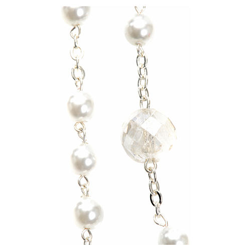 Mary Untier of Knots rosary, white 2