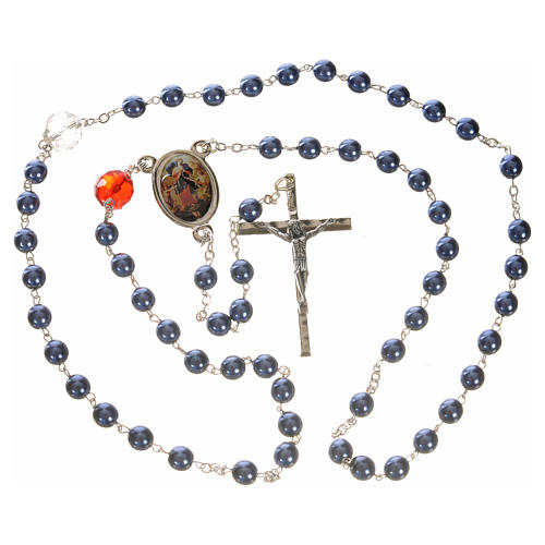 Mary Untier of Knots rosary, blue 4