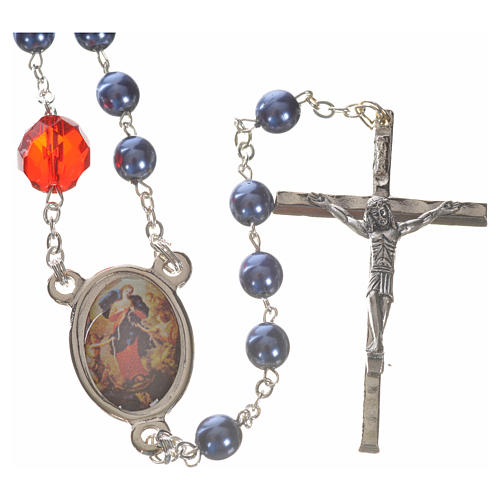 Mary Untier of Knots rosary, blue 1