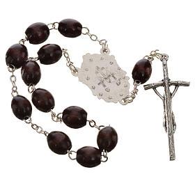 Trisagio Idente marrón con cruz pastoral y Virgen Milagrosa s2