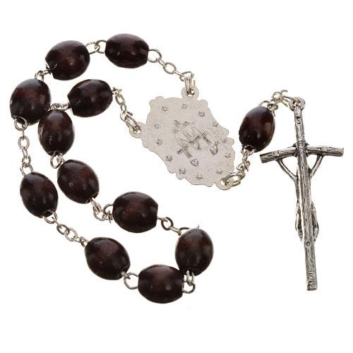 Trisagio Idente marron croix pastorale médaille Miraculeuse 2