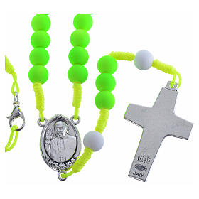 Rosary beads in green fimo, Pope Francis s2