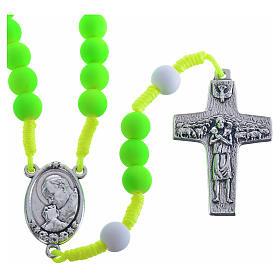 Rosario fimo verde Papa Francisco s1