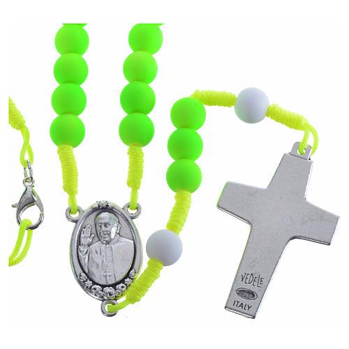 Rosario fimo verde Papa Francisco 2