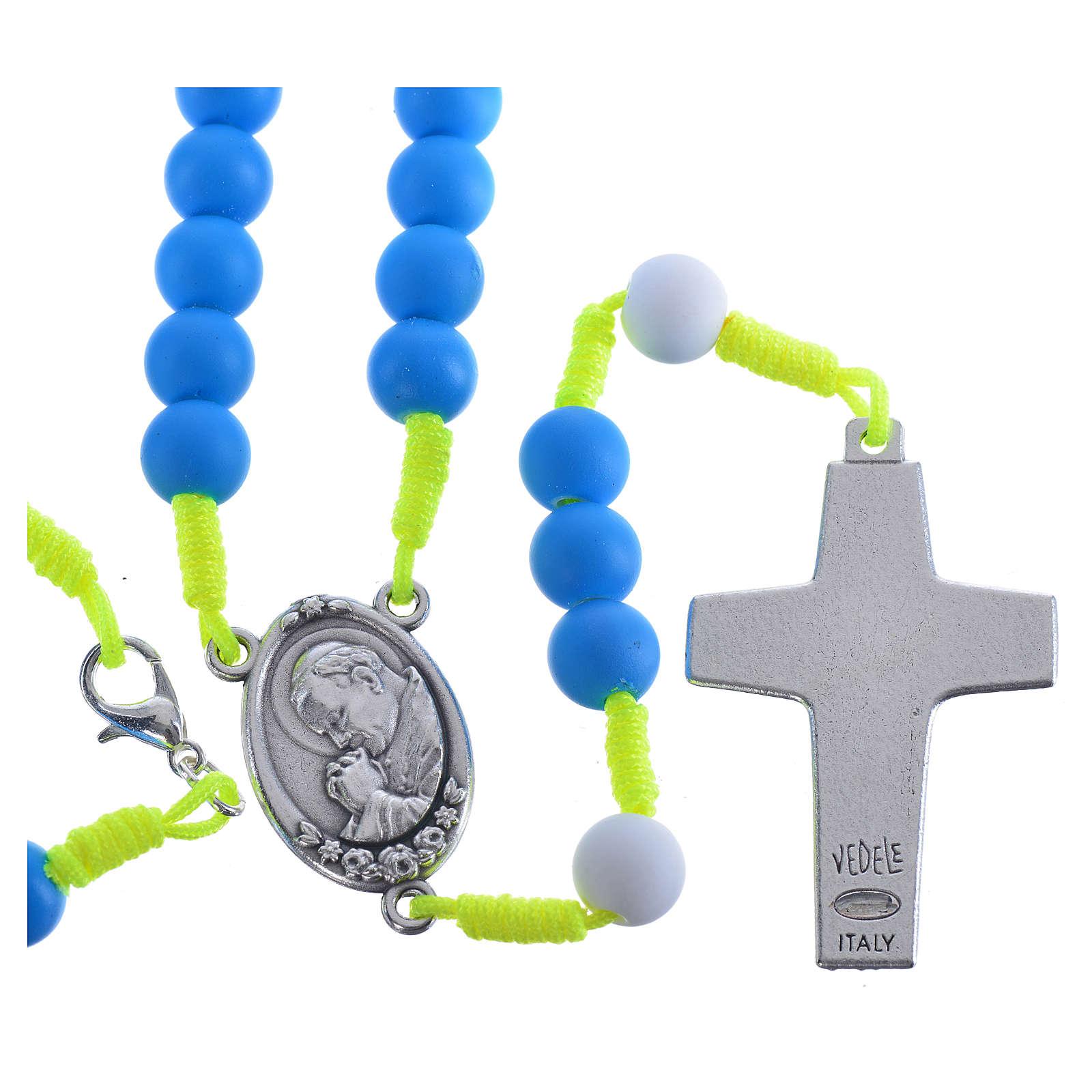 Rosario fimo blu Papa Francesco 4