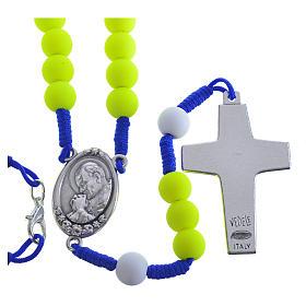 Rosenkranz aus gelbem Fimo Papst Franziskus s2