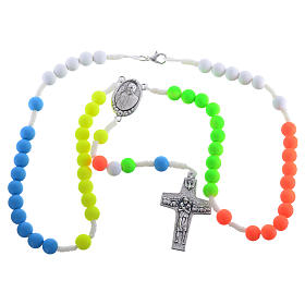 Rosary beads in multicoloured fimo, Pope Francis s3