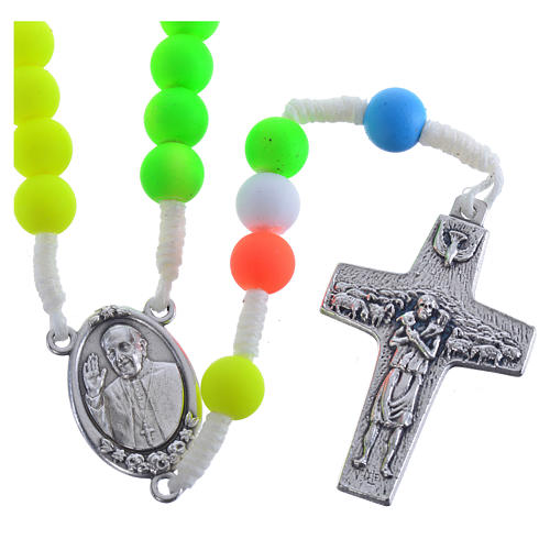 Rosary beads in multicoloured fimo, Pope Francis 1