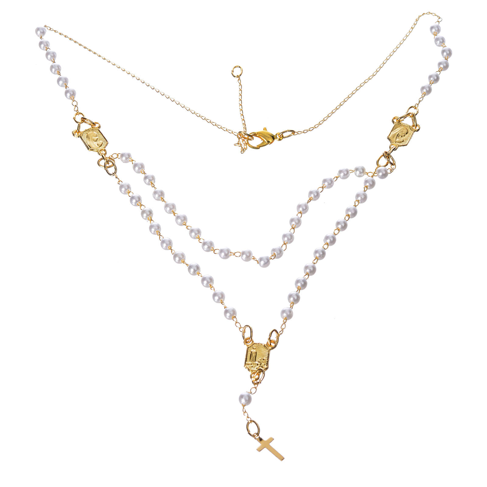 Corona devozionale collana Madonna di Fatima similperla 4