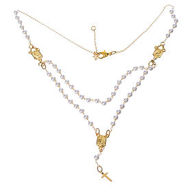 Corona devozionale collana Madonna di Fatima similperla s1