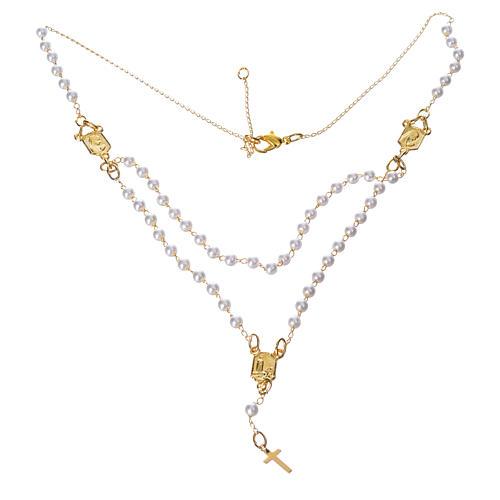 Corona devozionale collana Madonna di Fatima similperla 1