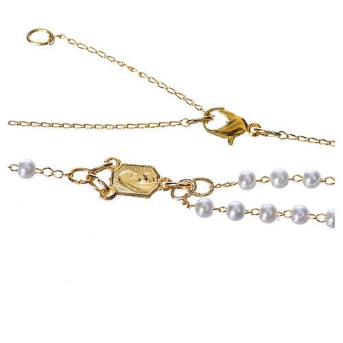 Corona devozionale collana Madonna di Fatima similperla 5