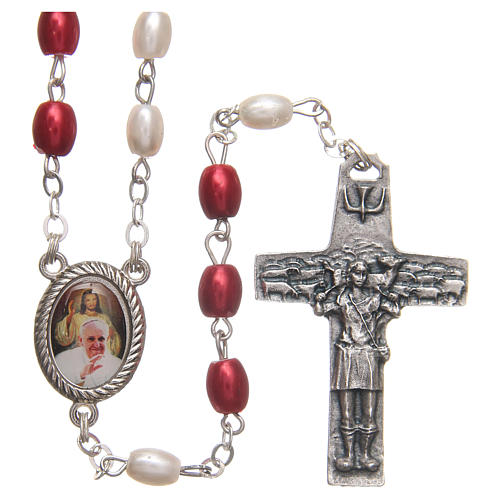Pope Francis rosary beads in PVC 8mm 1