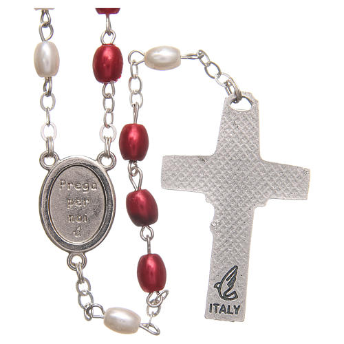 Pope Francis rosary beads in PVC 8mm 2
