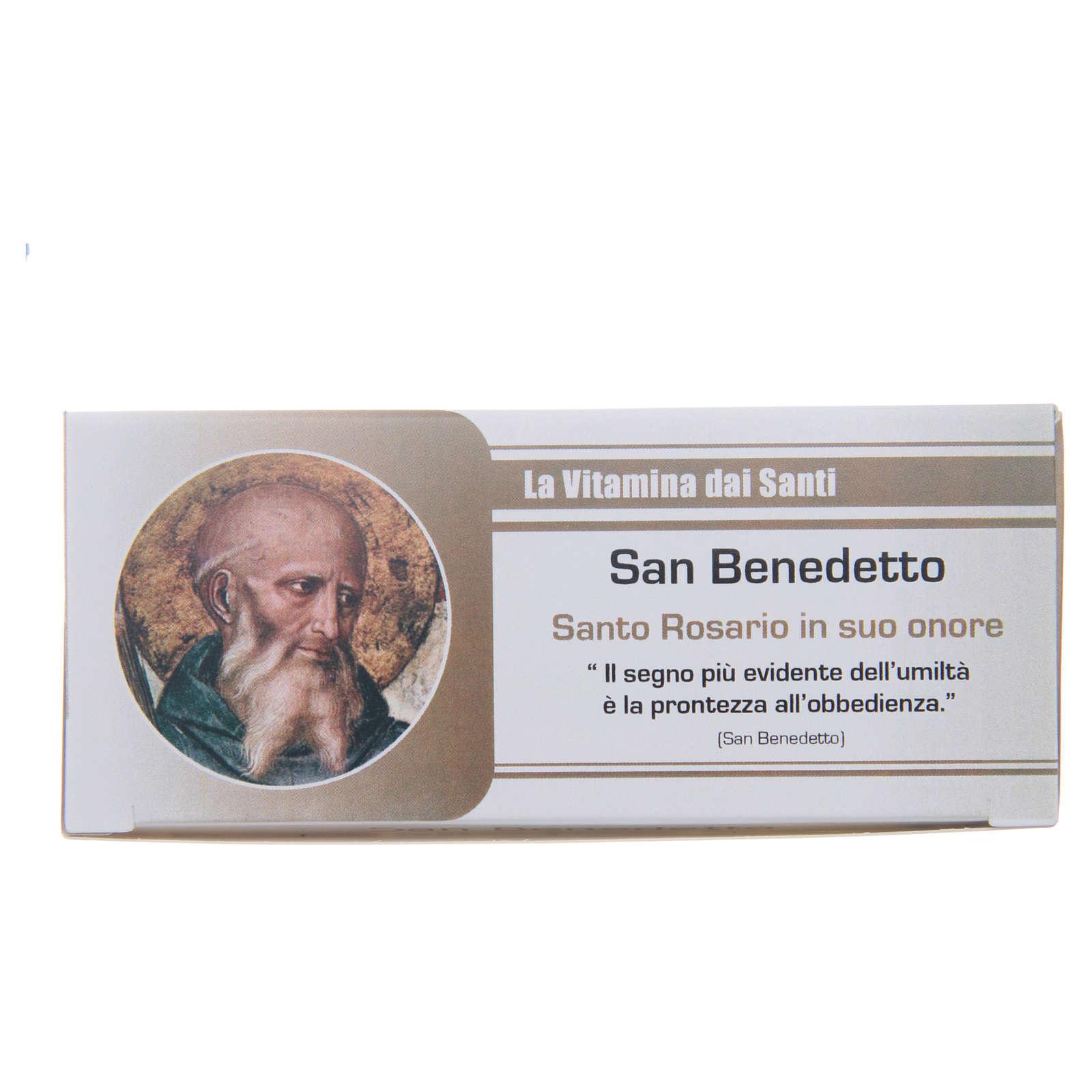 Rosary Vitamin of the Saints Saint Benedict ITALIAN 4