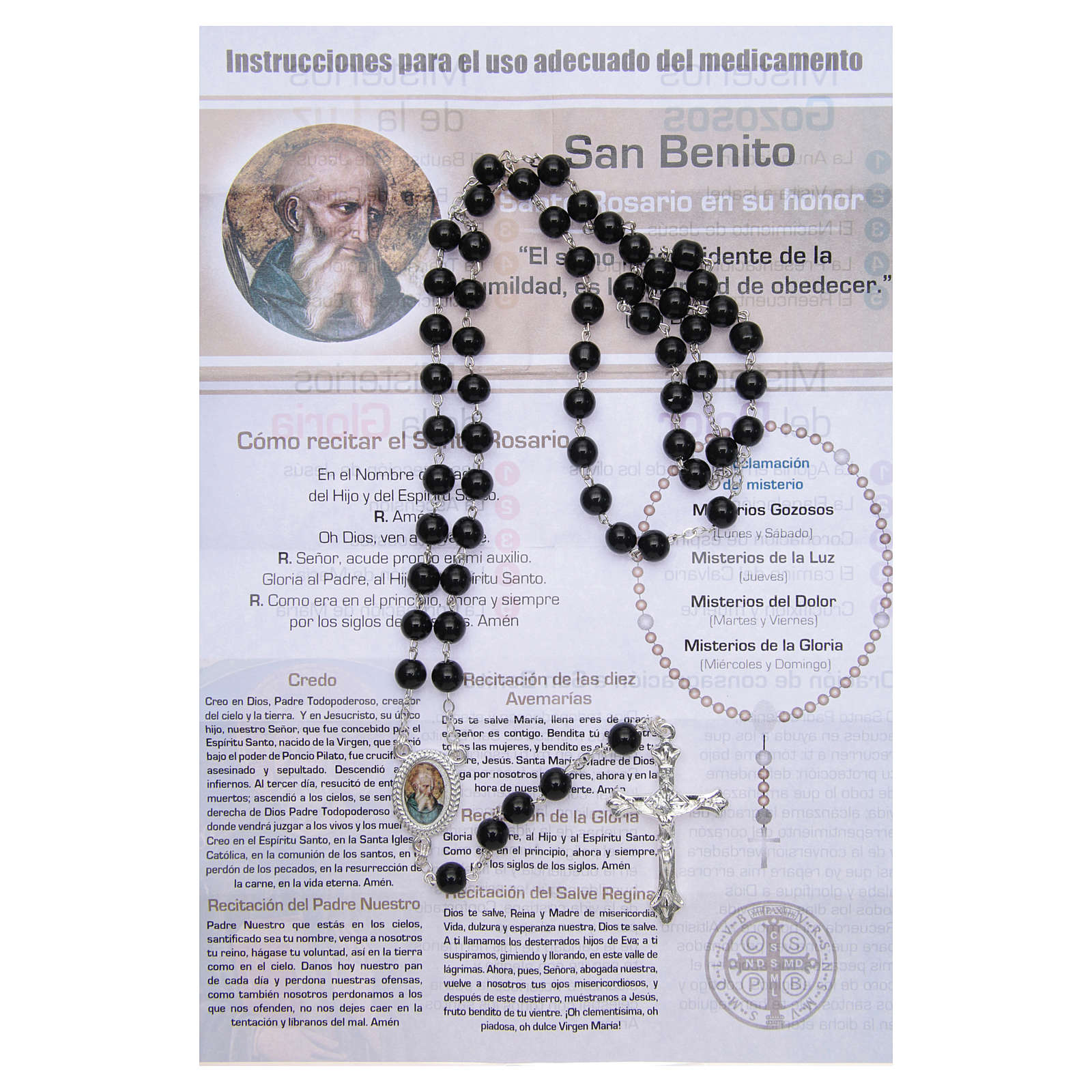 Rosary Vitamin of the Saints Saint Benedict SPANISH 4