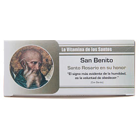 Rosary Vitamin of the Saints Saint Benedict SPANISH s1