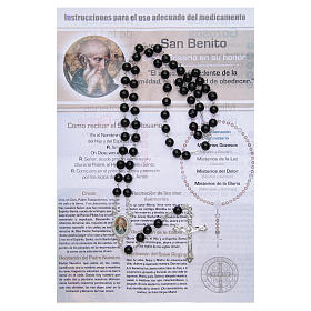 Rosary Vitamin of the Saints Saint Benedict SPANISH s2