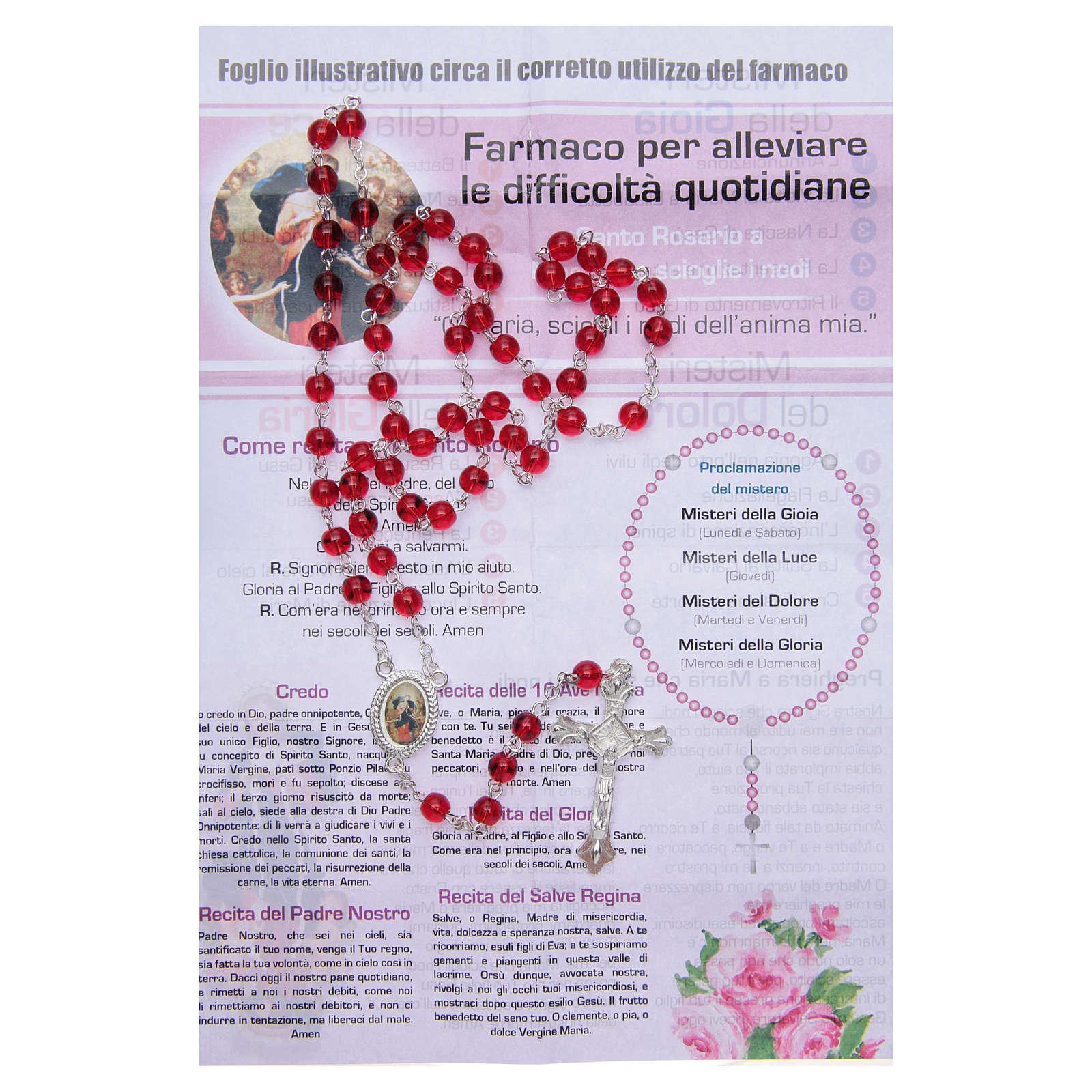 Różaniec Pielęgniarka Duszy Madonna rozwiązująca węzły WŁOSKI 4