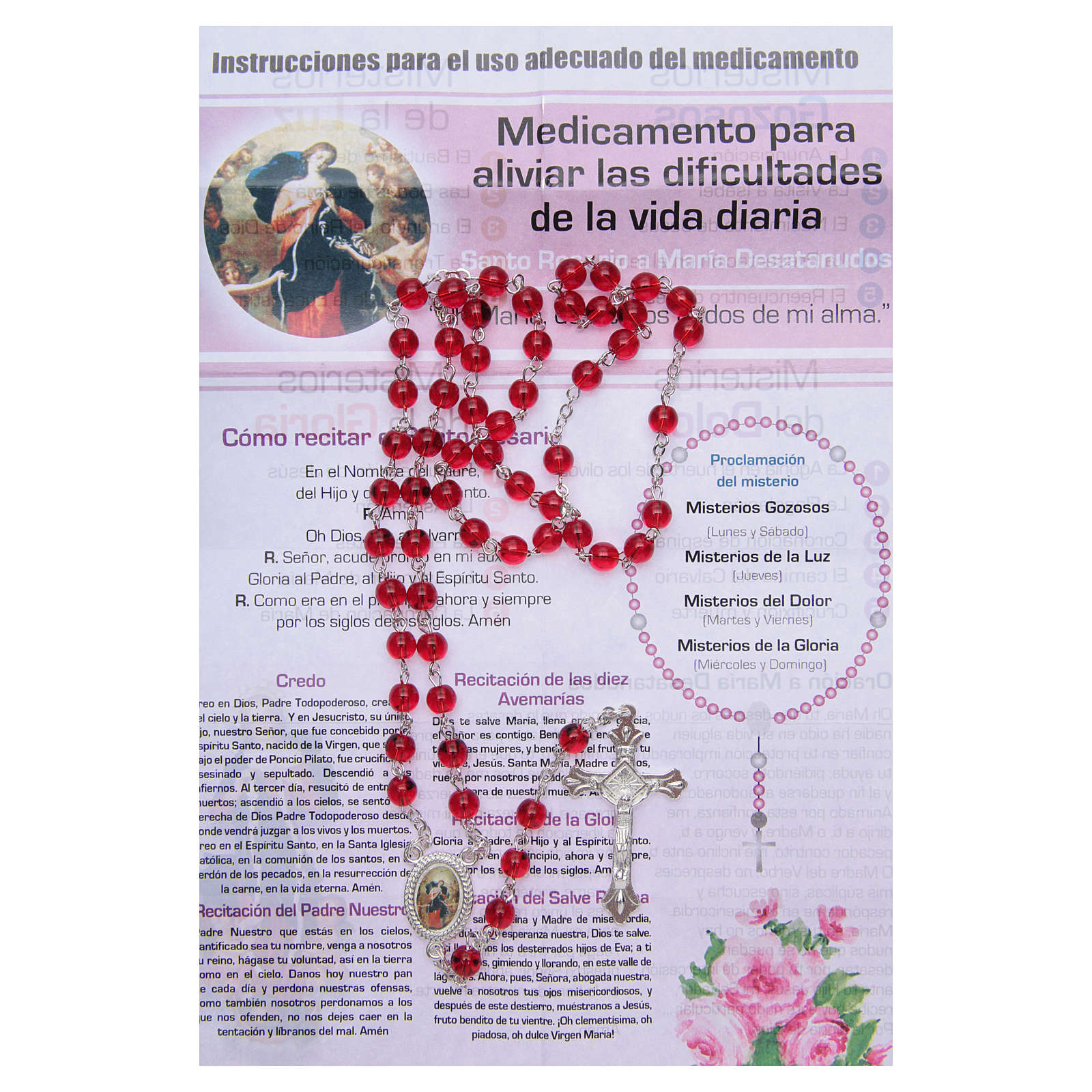 Rosary Nurse of the Soul Mary untire of knots SPANISH 4