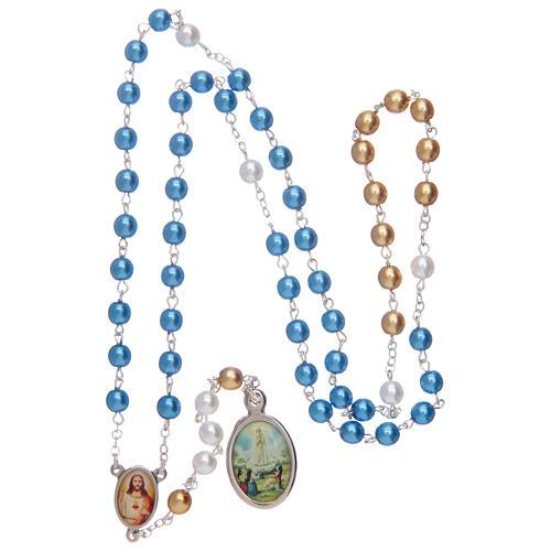 Rosary pearl-like beads, Fatima centennial 8