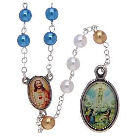 Chapelets perles d'imitation: Chapelet avec grains en imitation nacre centenaire de Fatima