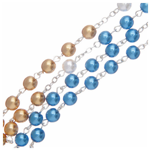 Rosary pearl-like beads, Fatima centennial 5